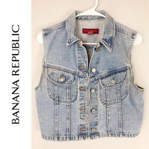 Banana Republic Jackets & Coats - Banana Republic vintage denim jean vest Medium